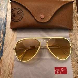 RAY-BAN Authentic RB 3025JM Aviator Sunglasses